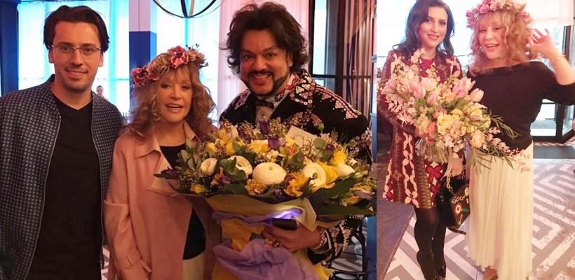 Alla Pugaciova și-a adunat cei mai apropiați prieteni din showbizul rusesc la o petrecere a primăverii