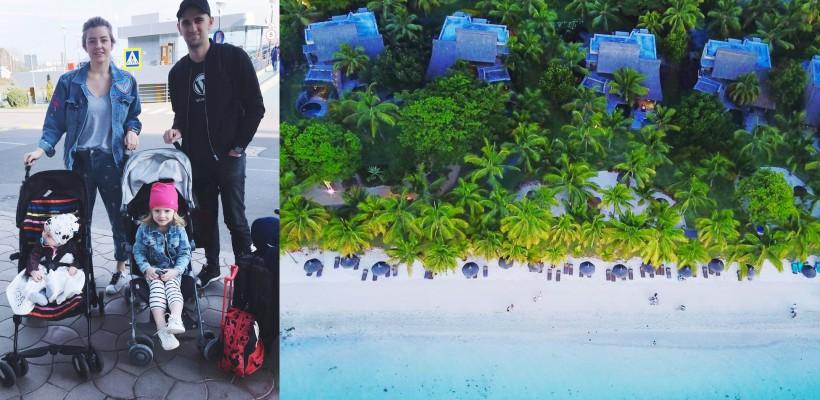 În patru, la capătul lumii! Ana Ciorici, plecată în Mauritius alături de întreaga familie (FOTO)