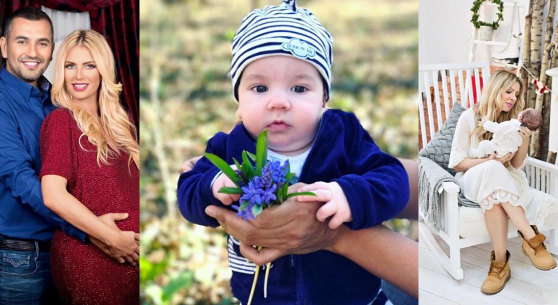 De patru luni, mamă la pătrat! Vezi cât de mult a crescut Noah, băiețelul Andreei Bănică