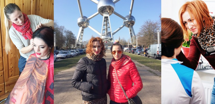"""Două surori din Moldova cuceresc belgiencele cu talentul lor de a machia și coafa! """"Orice vis trebuie ținut în taină pentru momentul oportun"""""""