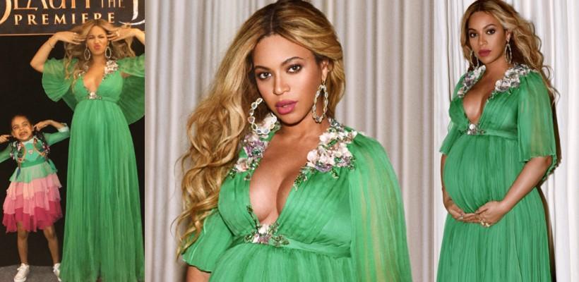 """Ca o zână! Beyoncé a sclipit, alături de familie, la premiera filmului """"Frumoasa și Bestia"""" (FOTO)"""