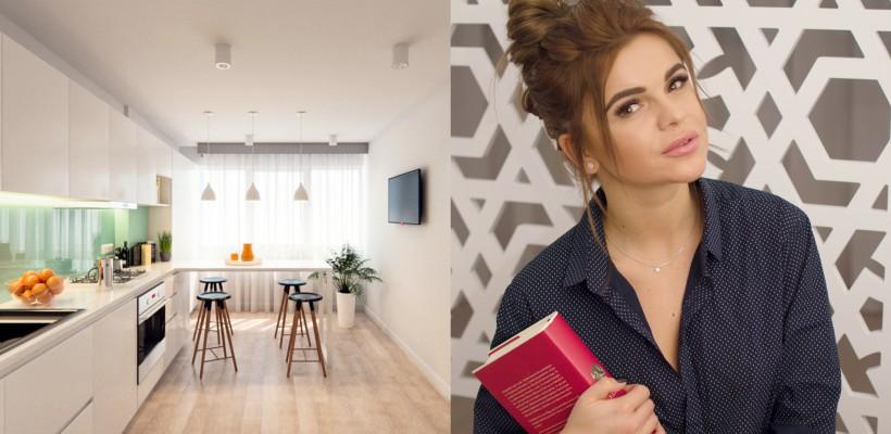 Albul e peste tot! Cum arată interiorul proaspăt amenajat din apartamentul Danielei Burlac (FOTO)