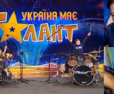 """Doi frățiori din Chișinău au încins atmosfera de la """"Ucraina are Talent"""" cu talentul lor de a lovi în tobe"""