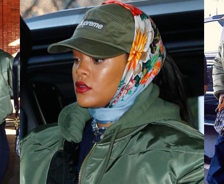 Batistă plus șapcă de baseball! Rihanna introduce o nouă tendință (FOTO)