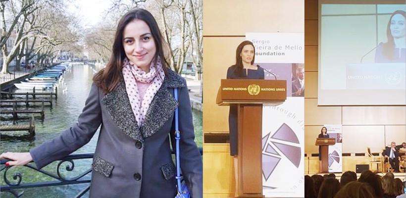 """Irina Chicu – studenta basarabeană care a """"savurat"""" discursul de la Geneva al Angelinei Jolie"""