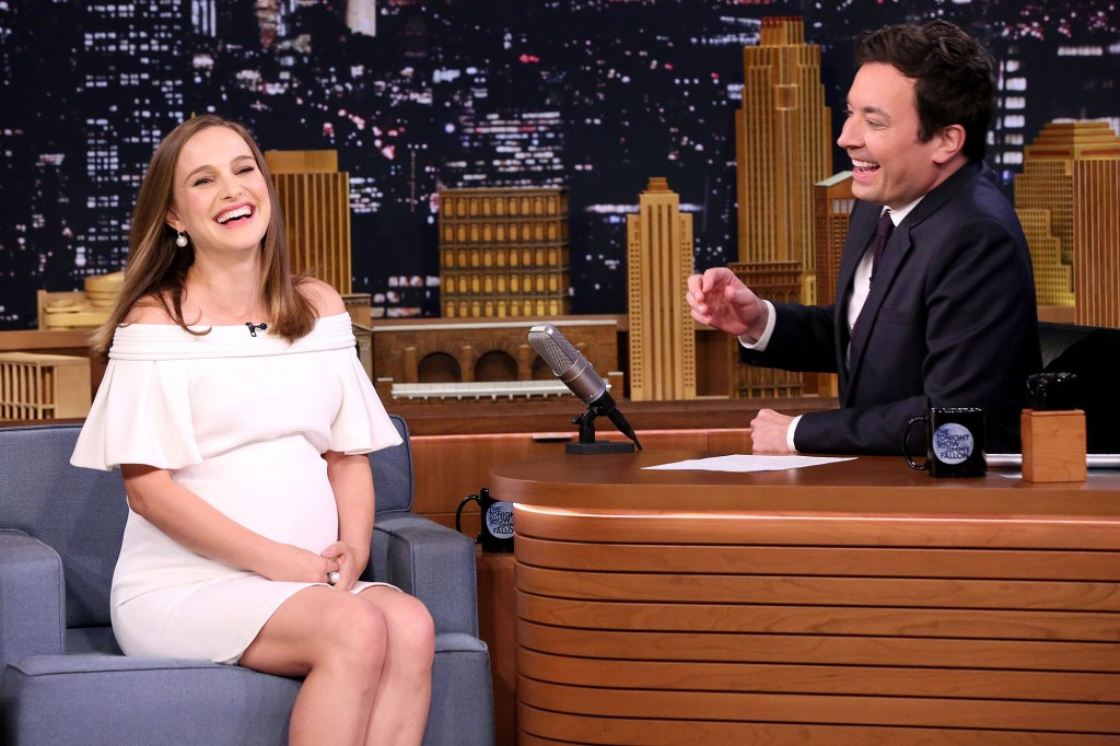 THE TONIGHT SHOW STARRING JIMMY FALLON -- Episode 0580 -- Pictured: (l-r) Actress Natalie Portman during an interview with host Jimmy Fallon on November 29, 2016 -- (Photo by: Andrew Lipovsky/NBC)