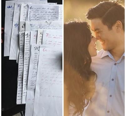 Cererea în căsătorie a unui bărbat a durat trei ani și a fost făcută prin 14 scrisori