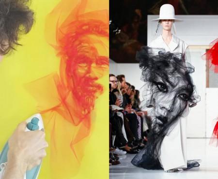"""Greu de crezut! Acest artist """"pictează"""" cu fierul de călcat și straturile de tul (VIDEO)"""