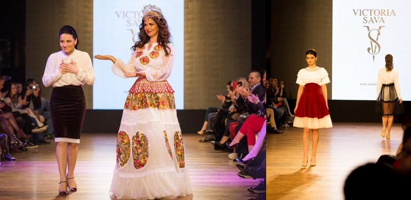 Victoria Sava a scos pe podiumul de la Romanian Fashion Philosophy o colecție de ținute fabuloase