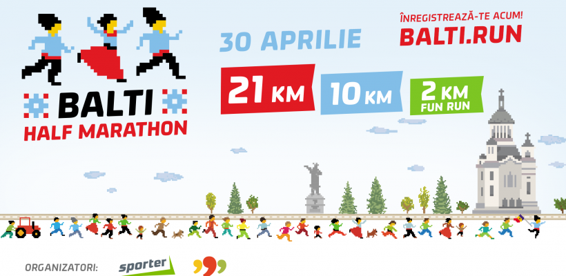 Premieră la Bălți! Capitala de nord a Moldovei va găzdui primul semimaraton din țară