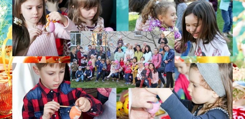 Arta încondeierii ouălor, descoperită de cei mici! Mai mulți copilași au întâmpinat Sărbătorile Pascale prin joc și distracție (FOTO)