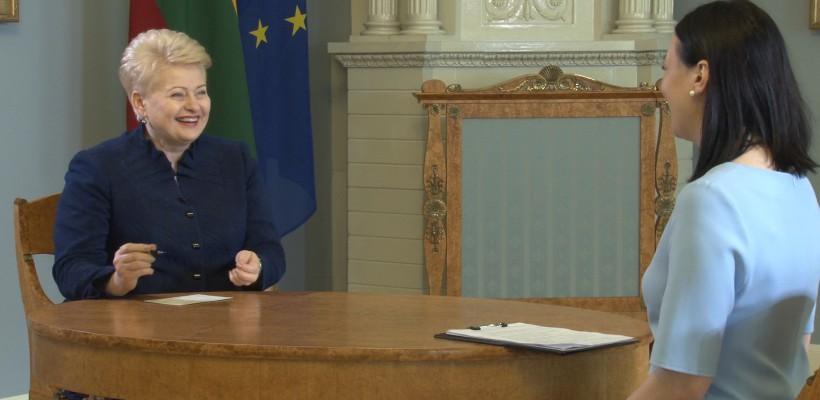 """Interviu cu Dalia Grybauskaitė, președinta Republicii Lituania – """"Doamna de Fier"""" a țărilor baltice (Video)"""