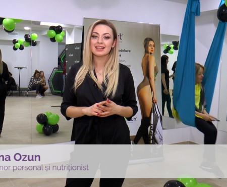 Elena Ozun Fitness & Nutrition Studio te așteaptă pentru programe de alimentație și sport individualizate (Video)
