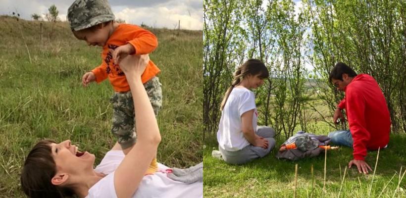 """""""Vezi, puiule, pe aici mergea mami cu caprele!"""" Adela Popescu a petrecut """"prima Înviere în 3"""" (FOTO)"""