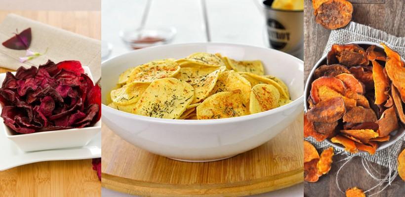 Cinci alternative sănătoase la chipsurile din cartofi. Cum se prepară