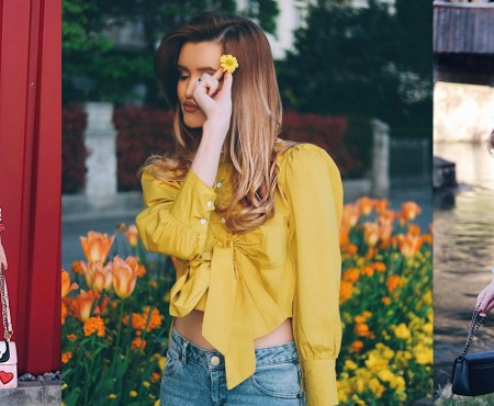 """7 outfit-uri de primăvară, de la bloggerița Cristina Gheiceanu: """"Am ales galbenul în acest sezon"""""""
