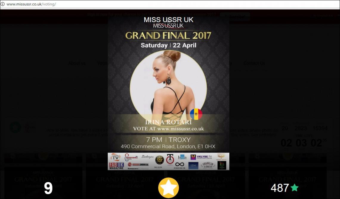 """O cojușneancă luptă pentru un loc de frunte în finala Miss USSR UK: """"Am nevoie de voturile voastre!"""""""