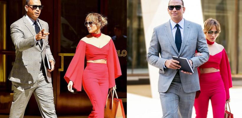 Îndrăgostită lulea! Jennifer Lopez, în roșu, alături de campionul care i-a răpit inima (FOTO)