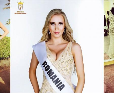 Mister dezlegat! Din ce a fost creată rochia purtată de Kristina Ciasovschih la Miss Eco International