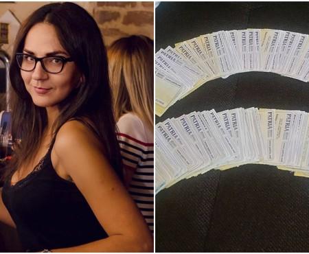 O tânără din Chișinău colecționează bilete de cinema de 15 ani