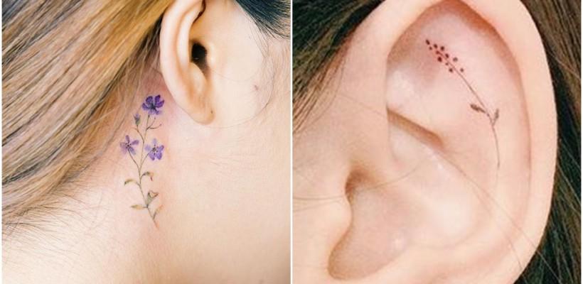"""""""Floare la ureche"""" nu e o simplă expresie, ci un tatuaj de toată frumusețea! Vezi tatuajele care te fac să le vrei"""