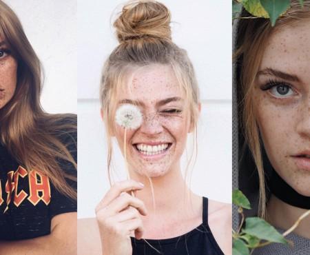 Un model german sparge tiparele și demonstrează că frumusețea nu are limite! Pozează fără makeup deși e pistruiată