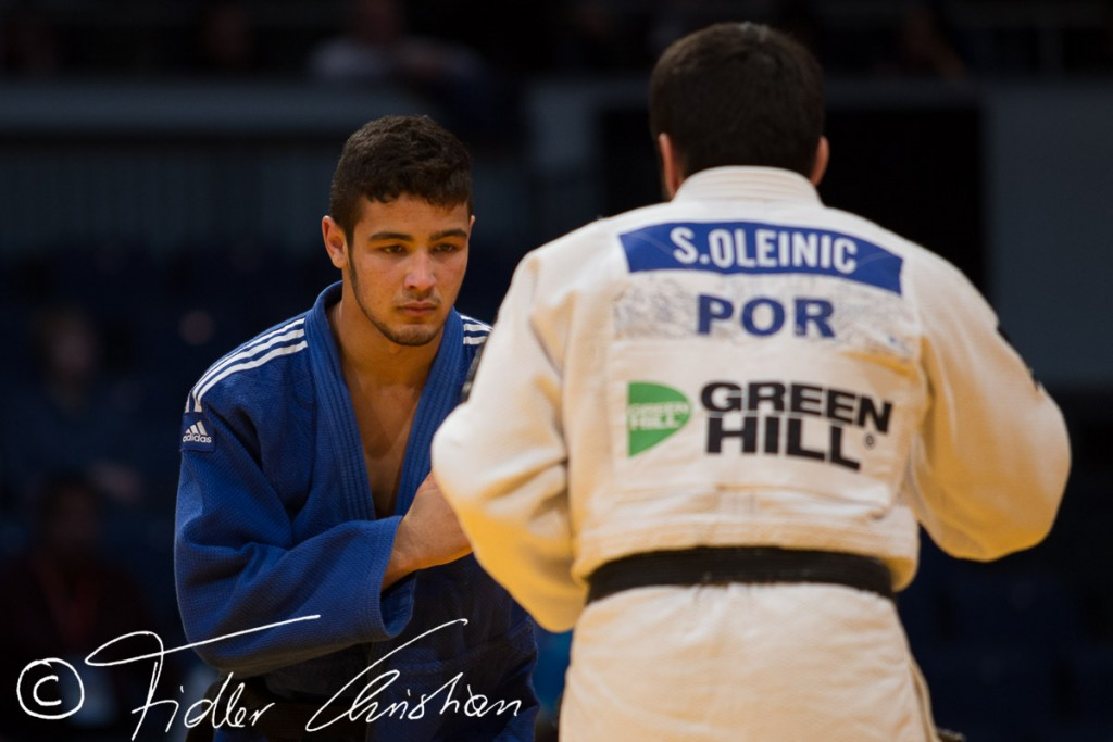 Sergiu Oleinic POR, Mohamed Rebahi QAT, IJF Grand Prix Dusseldorf, Germany. (Photo by Christian Fidler)