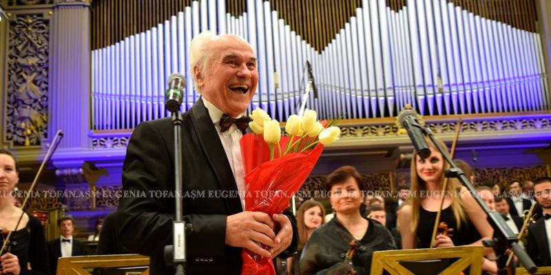 """Eugen Doga, la concertul de la Ateneul Român: Sunt nespus de bucuros că vă am aici, """"în Casa Mare a Neamului"""""""
