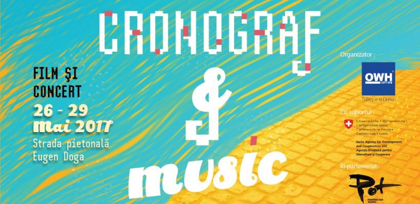 CRONOGRAF & MUSIC – seri cu muzică și film pe strada pietonală