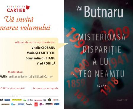 """""""Misterioasa dispariție a lui Teo Neamțu"""" – un nou roman de Val Butnaru. Vezi când va fi lansat"""