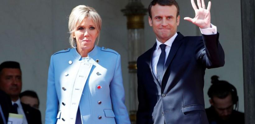La învestire, președintele Franței a purtat un costum de 450 euro, iar Prima Doamnă – un costum împrumutat