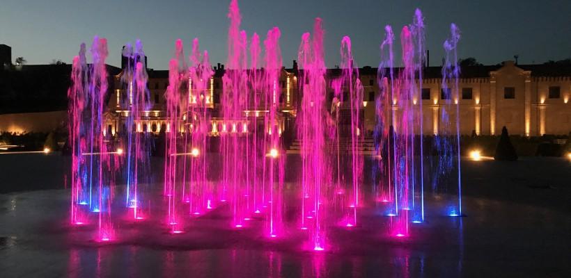 """A fost inaugurat un havuz muzical multicolor care """"dansează"""" pe ritmurile maestrului Eugen Doga"""