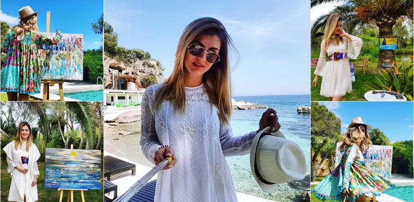 După o carieră în televiziune acasă, Alina Poloboc își trăiește visul la Palma de Mallorca: e pictoriță de succes