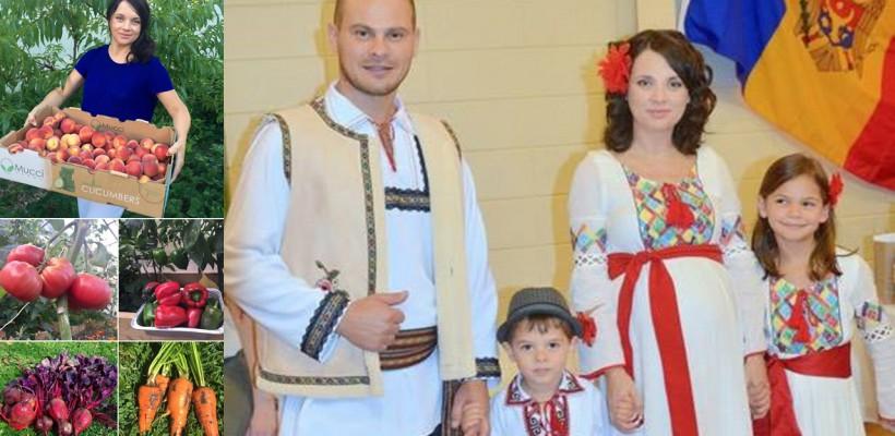 Au reușit să ducă Moldova peste ocean! O familie din Hâncești promovează valorile tradiționale, departe de casă