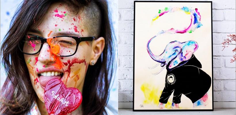 O tânără artistă și-a împărtășit admirația pentru Carla's Dreams într-un tablou! Solistul e cucerit de elefanți