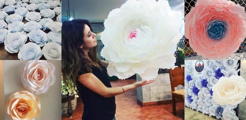 O tânără din Bender creează decorații florale uluitoare, folosind hârtia (FOTO)