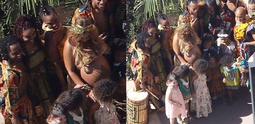 Beyoncé și-a afișat burtica imensă la un baby shower organizat pentru viitorii săi gemeni (FOTO)