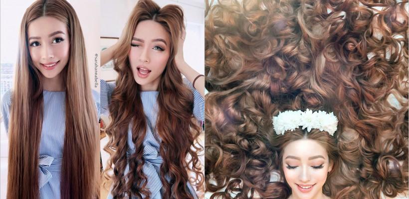 Are un păr ca de prințesă și o mulțime de fani virtuali! Ce secrete ascunde frumusețea acestei bloggerițe