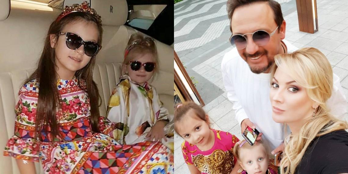 Admirate de însuși Stefano Gabbana! Fiicele de 5 și 8 ani, ale lui Stas Mihailov, în ținute D&G (FOTO)