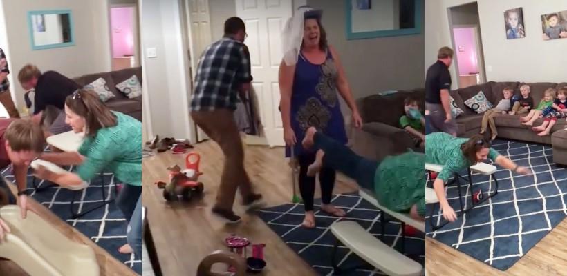 Niște părinți au născocit probabil cea mai amuzantă soluție pentru neastâmpărul copiilor (VIDEO)