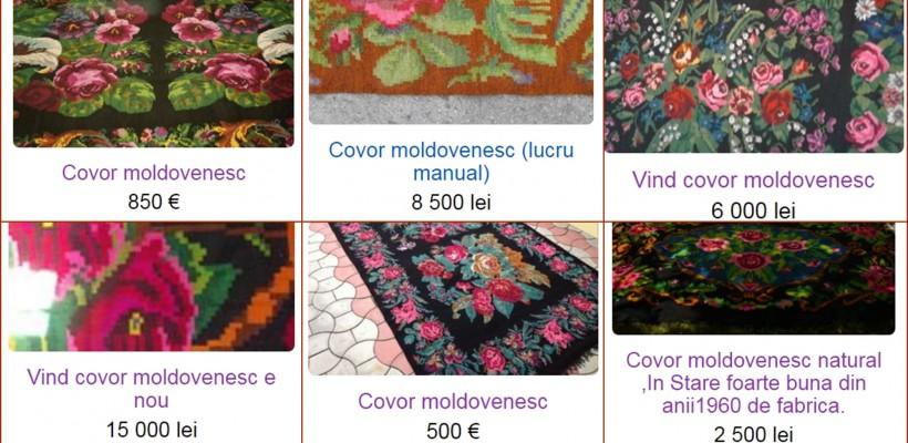 """Covoarele vechi, moldovenești, la mare căutare pe site-urile de vânzări. """"Bijuteriile"""" costă sute de euro"""
