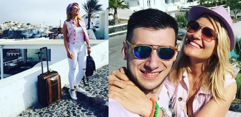 Dianna Rotaru și iubitul său, Ilia Tataru, explorează insula Santorini (FOTO)