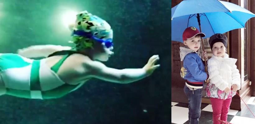"""Fetița Allei Pugaciova demonstrează o performanțe rare la înot: """"E timpul pentru competiții"""""""