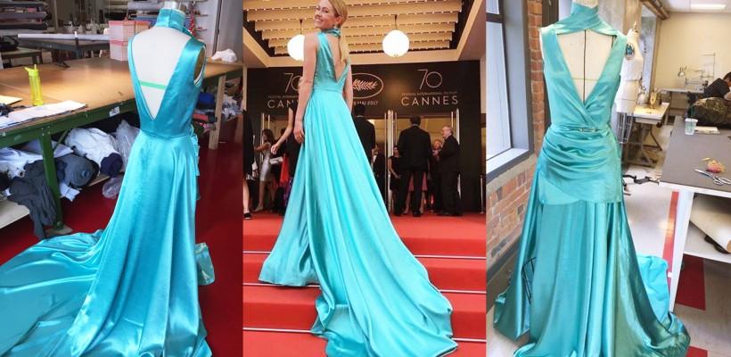 Croită în doar 3 zile! O rusoaică a sclipit la Cannes într-o ținută a unui designer din Republica Moldova!