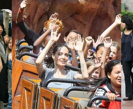 Noi fotografii cu Angelina Jolie. Actrița și-a dus fiicele la Disneyland, la a 11-a aniversare a primului copil biologic
