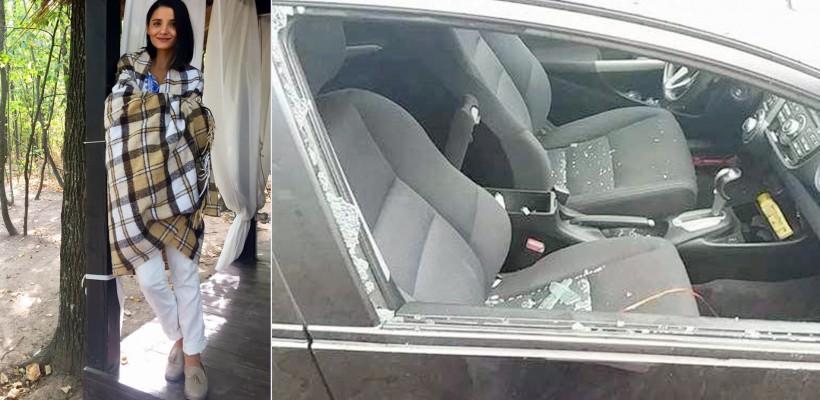 """Mașina Liliei Ojovan, spartă ziua, în amiaza mare: """"Au furat tot ce au găsit"""""""