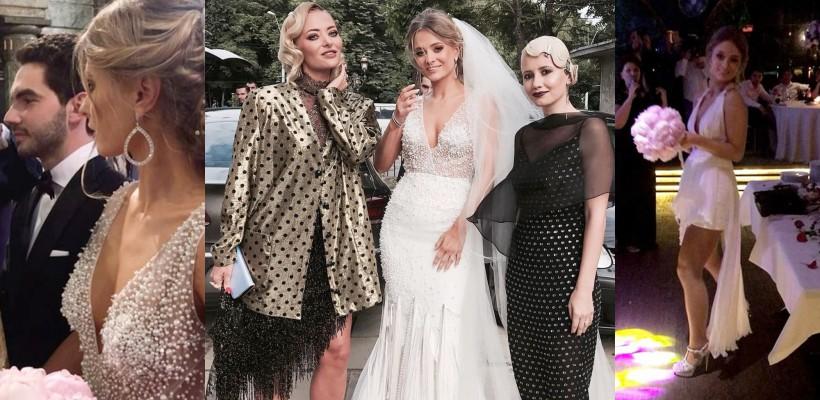 Delia și-a cununat sora. Oana a schimbat două rochii de mireasă la nuntă (FOTO)