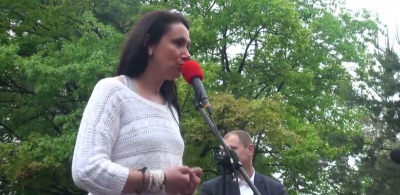 """Nata Albot în fața protestatarilor: """"Niciodată în Moldova nu a fost atât de greu"""" (Video)"""