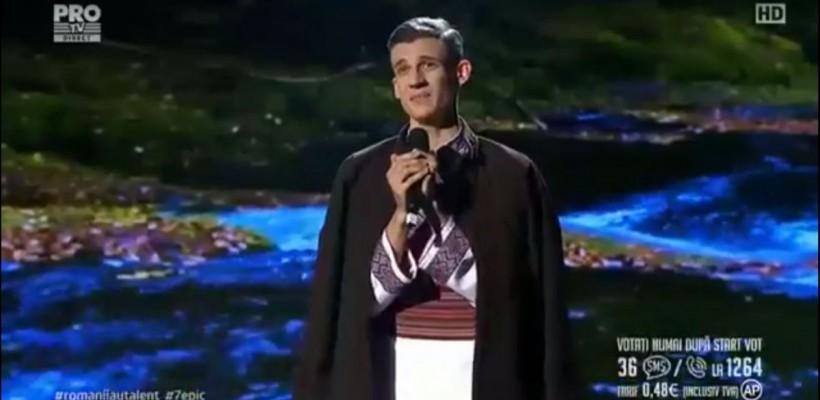 """O nouă prestație """"nebună"""" de la Gabriel Nebunu, în semifinala """"Românii au talent"""" (Video)"""