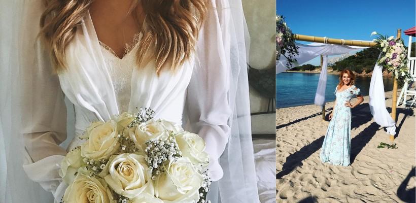 Noi fotografii de la nunta Cristinei Gheiceanu! Ceremonia de căsătorie a avut loc pe o plajă (FOTO)
